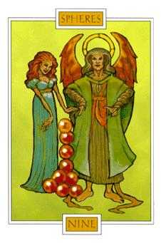 Nine of Coins Tarot Card - Winged Spirit Tarot Deck
