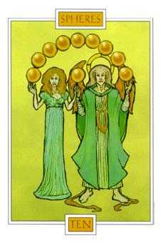 Ten of Spheres Tarot Card - Winged Spirit Tarot Deck