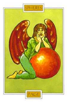 Page of Spheres Tarot Card - Winged Spirit Tarot Deck