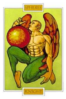 Knight of Pumpkins Tarot Card - Winged Spirit Tarot Deck
