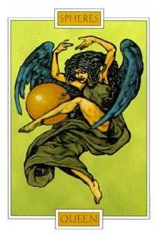 Queen of Pumpkins Tarot Card - Winged Spirit Tarot Deck