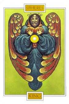 King of Buffalo Tarot Card - Winged Spirit Tarot Deck