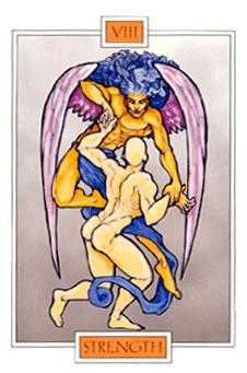 Strength Tarot Card - Winged Spirit Tarot Deck