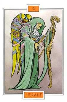 The Hermit Tarot Card - Winged Spirit Tarot Deck