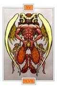 The Devil Tarot card in Winged Spirit Tarot Tarot deck