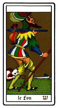 The Foolish Man Tarot Card - Oswald Wirth Tarot Deck