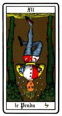 The Hanged Man Tarot Card - Oswald Wirth Tarot Deck