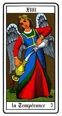 Temperance Tarot Card - Oswald Wirth Tarot Deck