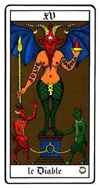 The Devil Tarot Card - Oswald Wirth Tarot Deck