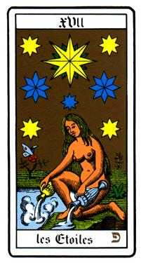The Star Tarot Card - Oswald Wirth Tarot Deck