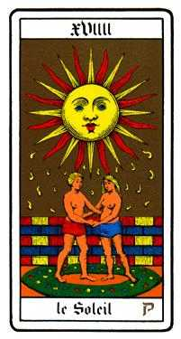 The Sun Tarot Card - Oswald Wirth Tarot Deck
