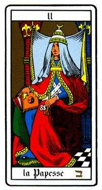 The High Priestess Tarot Card - Oswald Wirth Tarot Deck