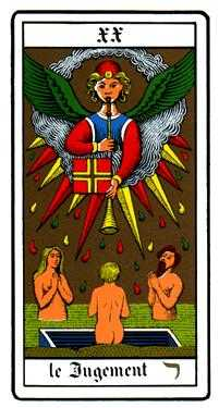 The Judgment Tarot Card - Oswald Wirth Tarot Deck