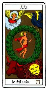 The World Tarot Card - Oswald Wirth Tarot Deck