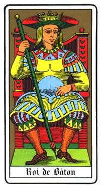 King of Staves Tarot Card - Oswald Wirth Tarot Deck