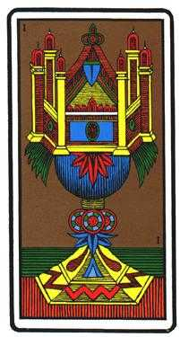 Ace of Hearts Tarot Card - Oswald Wirth Tarot Deck