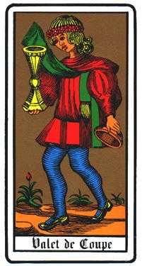 Page of Hearts Tarot Card - Oswald Wirth Tarot Deck