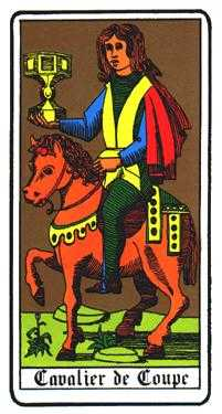 Knight of Cups Tarot Card - Oswald Wirth Tarot Deck