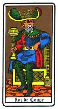 Roi of Cups Tarot Card - Oswald Wirth Tarot Deck