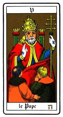 The Pope Tarot Card - Oswald Wirth Tarot Deck