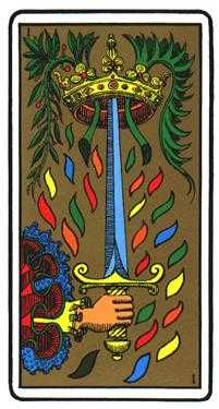 Ace of Wind Tarot Card - Oswald Wirth Tarot Deck