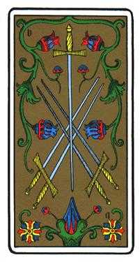 Five of Swords Tarot Card - Oswald Wirth Tarot Deck