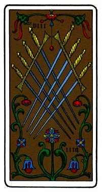 Eight of Swords Tarot Card - Oswald Wirth Tarot Deck