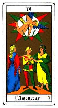 The Lovers Tarot Card - Oswald Wirth Tarot Deck