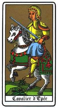 Knight of Swords Tarot Card - Oswald Wirth Tarot Deck