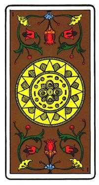 Ace of Pumpkins Tarot Card - Oswald Wirth Tarot Deck