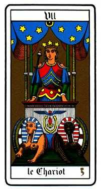 The Chariot Tarot Card - Oswald Wirth Tarot Deck