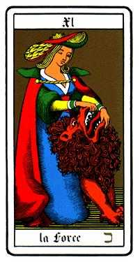 Strength Tarot Card - Oswald Wirth Tarot Deck