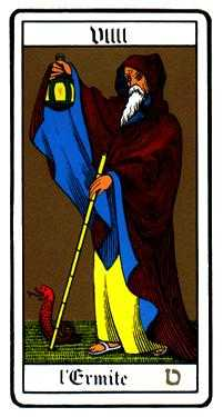 The Anchoret Tarot Card - Oswald Wirth Tarot Deck