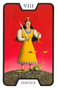 Justice Tarot Card - Tarot of the Witches Tarot Deck