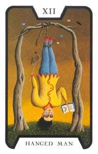 The Hanged Man Tarot Card - Tarot of the Witches Tarot Deck