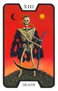 Death Tarot Card - Tarot of the Witches Tarot Deck