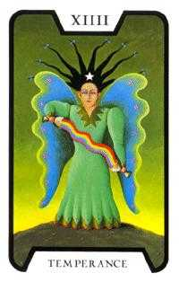 Temperance Tarot Card - Tarot of the Witches Tarot Deck