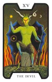 The Devil Tarot Card - Tarot of the Witches Tarot Deck