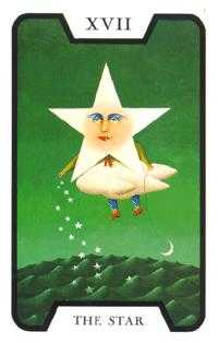 The Star Tarot Card - Tarot of the Witches Tarot Deck