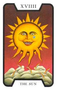 The Sun Tarot Card - Tarot of the Witches Tarot Deck