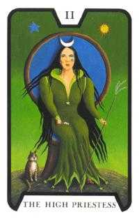 The High Priestess Tarot Card - Tarot of the Witches Tarot Deck