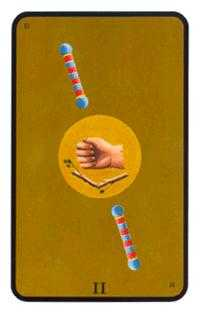 Two of Wands Tarot Card - Tarot of the Witches Tarot Deck