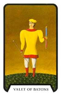 Knave of Batons Tarot Card - Tarot of the Witches Tarot Deck