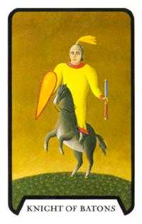 Knight of Staves Tarot Card - Tarot of the Witches Tarot Deck