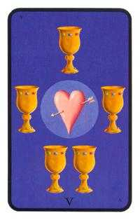 Five of Cups Tarot Card - Tarot of the Witches Tarot Deck