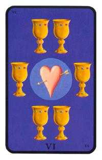 Six of Cups Tarot Card - Tarot of the Witches Tarot Deck