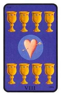 Eight of Hearts Tarot Card - Tarot of the Witches Tarot Deck