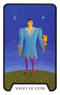 Slave of Cups Tarot Card - Tarot of the Witches Tarot Deck