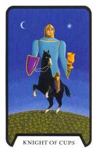 Cavalier of Cups Tarot Card - Tarot of the Witches Tarot Deck