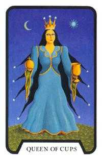 Queen of Cups Tarot Card - Tarot of the Witches Tarot Deck
